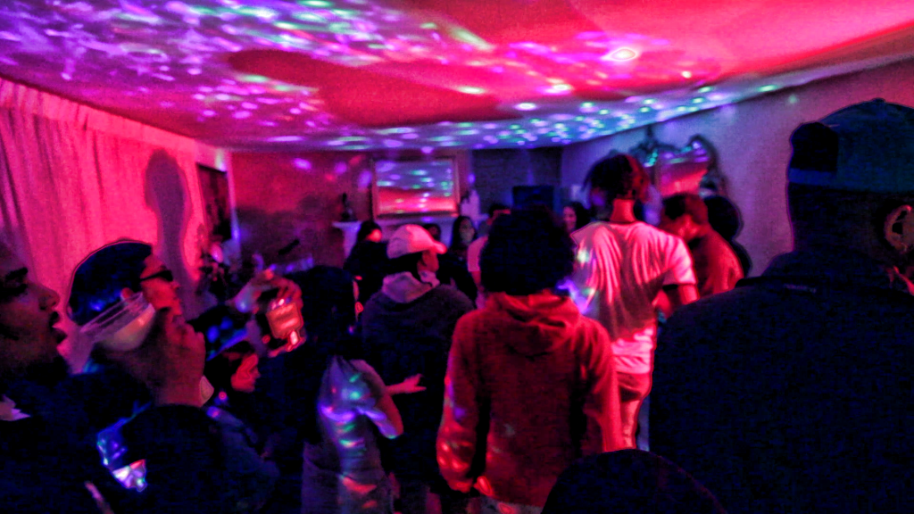 "house party scene for ""here dance short film"""