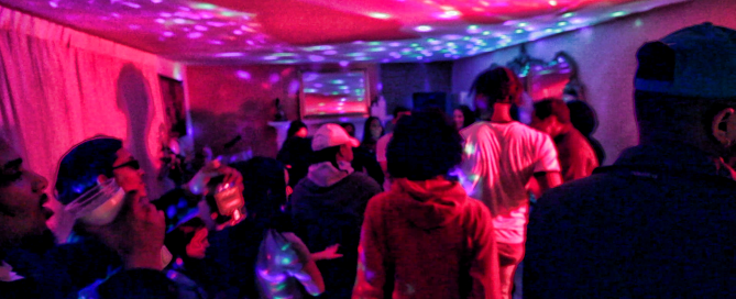 house party scene for here dance short film